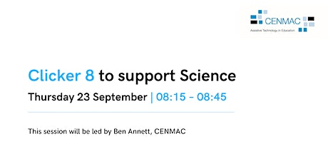 Using Clicker 8 to support Science | ONLINE Training | CM24 Tickets
