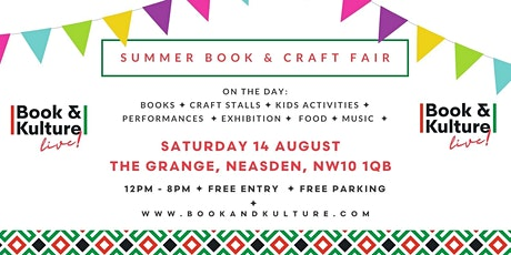 Book and Kulture Live! Summer Book and Craft Fair tickets