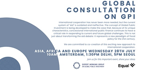 Co-creating GPI: Global Consultation - Asia, Africa and Europe tickets