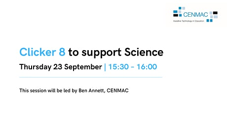 Using Clicker 8 to support Science | ONLINE Training | CM25 Tickets