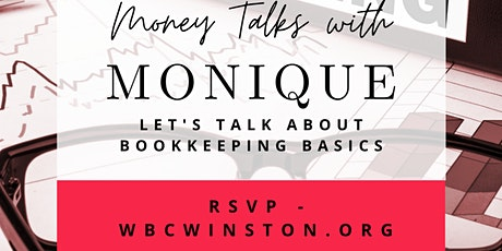Money Talks with Monique: Bookkeeping Basics tickets