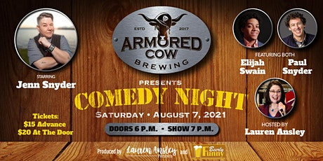 Armored Cow Brewing Co. Comedy Night - A Beerly Funny Production tickets