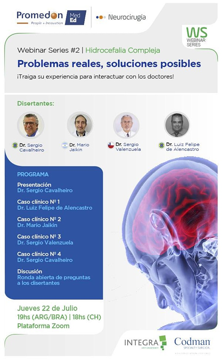 Imagen de Promedon Neurocirugía Webinar Series #2: Hidrocefalia Compleja
