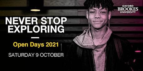 Oxford Brookes Undergraduate Open Day - 9 October 2021 tickets