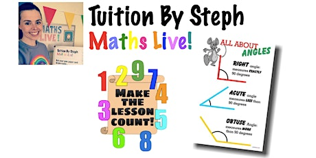 Maths Live! Summer Session - Angles Lesson 1 (Identifying) tickets