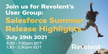 Revolent's User Group: Salesforce Summer Release Highlights biglietti