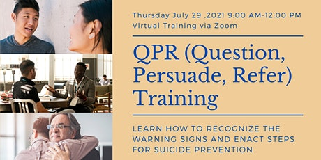 QPR: Question, Persuade, Refer Suicide Prevention Training tickets