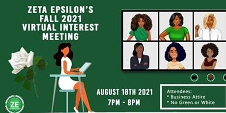 Zeta Epsilon Member Interest Meeting tickets