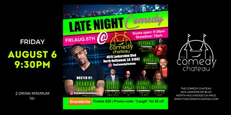 Late Night Comedy at the Comedy Chateau tickets