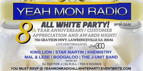 YEAH MON RADIO ALL WHITE PARTY tickets