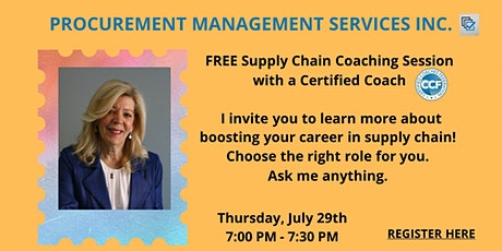 FREE Supply Chain Career Coaching tickets
