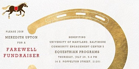 Fundraiser to benefit UMB's equestrian programs tickets