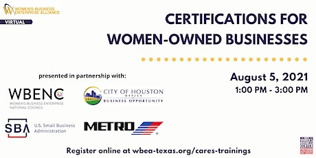 Certifications for Women-Owned Businesses tickets