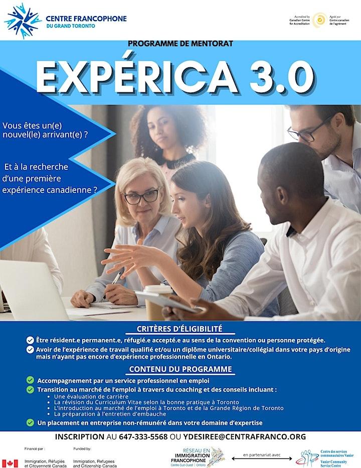 Session de recrutement pour le programme   Experica 3.0 du CFGT image