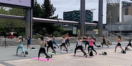 Outdoor yoga at Media City tickets