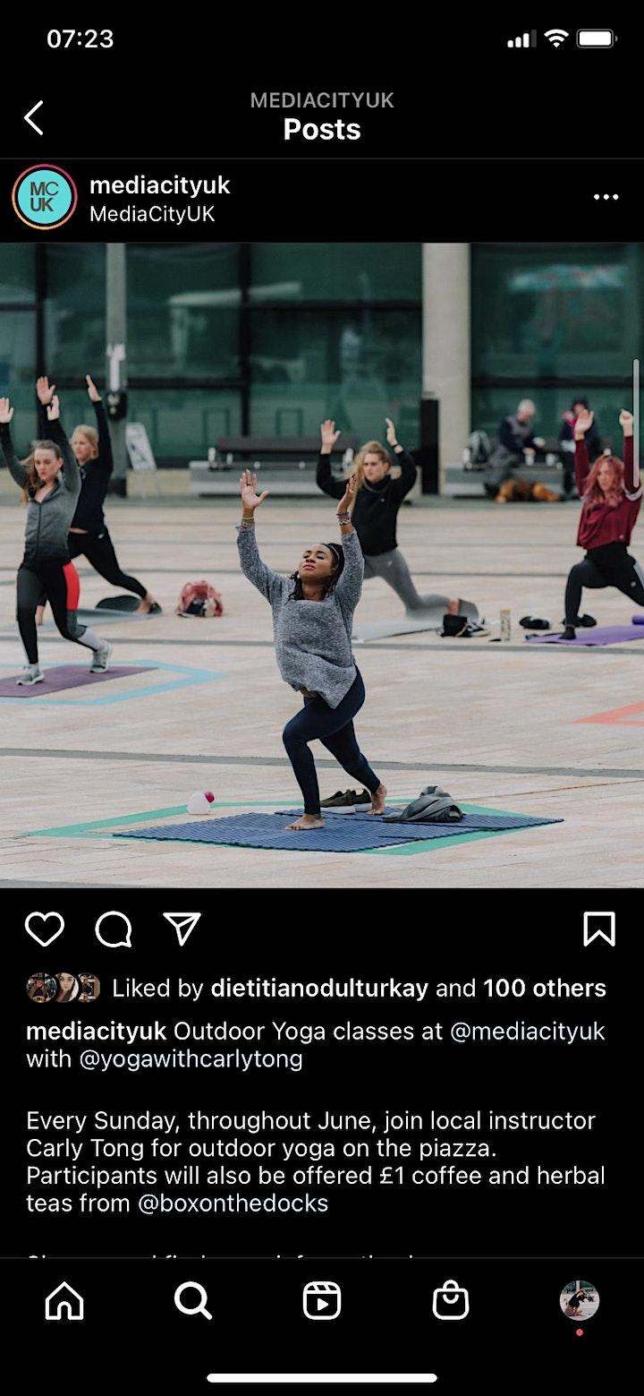 Outdoor yoga at Media City image