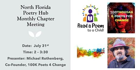 North Florida Poetry Hub Chapter July Monthly Meeting ~ 100K Poets 4 Change tickets