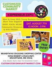 Customized Community Market - KIDPRENEUR EXPO tickets