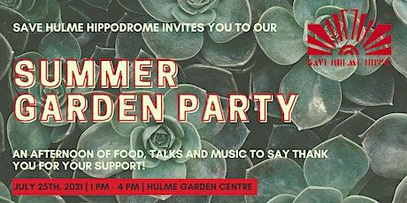 Save Hulme Hippodrome Garden Party tickets