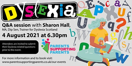 Dyslexia Questions & Answer Webinar for Parents & Carers tickets