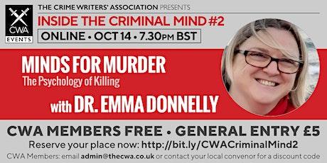 Minds for Murder: Psychology of Killing tickets