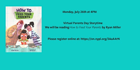 Online Preschool Storytime at Sedgwick Branch: Parents Day tickets