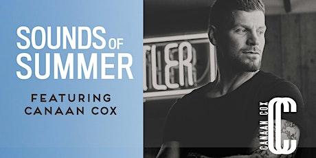 Sounds of Summer Concert - Canaan Cox tickets