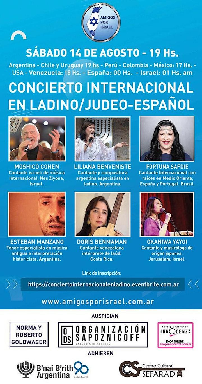 Imagen de CONCIERTO INTERNACIONAL EN LADINO/JUDEO-ESPAÑOL