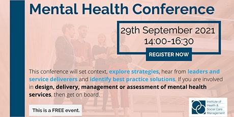 IHSCM Mental Health Conference tickets
