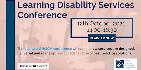 IHSCM Learning Disability Services Conference tickets