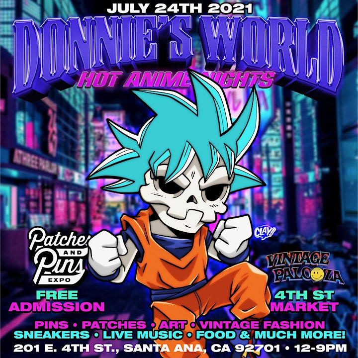 """Patches & Pins Festival Orange County """"Donnies World"""" : Hot Anime Nights image"""