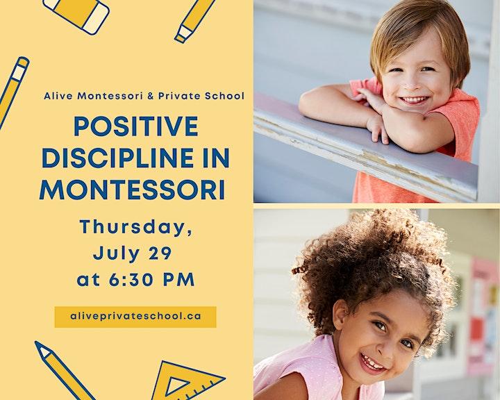 Positive Discipline in Montessori - Thursday July 29  at 6:30 PM image