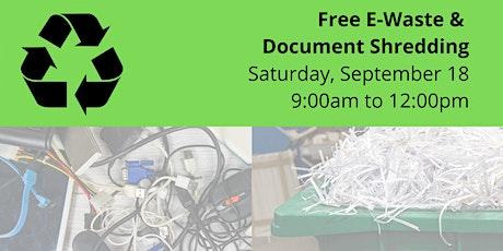 E-Waste & Document Shredding tickets