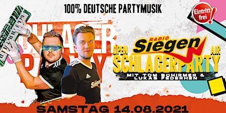 """Radio Siegen Schlagerparty """" Schicht 2 18-23 Uhr"""" Tickets"""