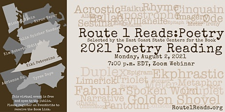 2021 Route 1 Reads  Poetry Reading tickets