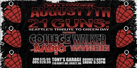 21 GUNS and COLLEGE RADIO @ Tony V's tickets