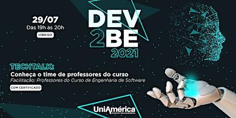 DEV2BE - Conheça o time de professores do curso ingressos