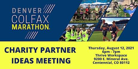 Colfax Marathon Charity Partner Ideas Meeting 8/12/21 6pm In Person tickets