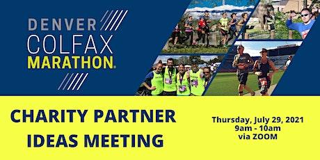 Colfax Marathon Charity Partner Ideas Meeting 7/29/21 9am ZOOM tickets