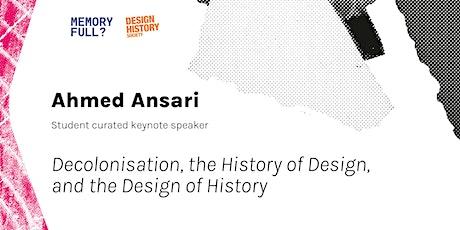 Ahmed Ansari — student curated keynote speaker tickets