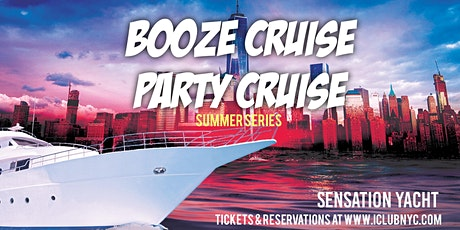 #1 NYC BOOZE CRUISE DINNER PARTY CRUISE | SENSATION YACHT tickets