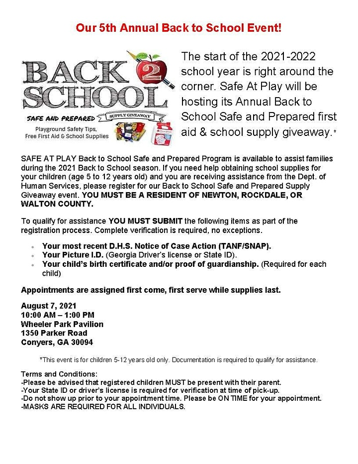 2021 Back to School Safe and Prepared image