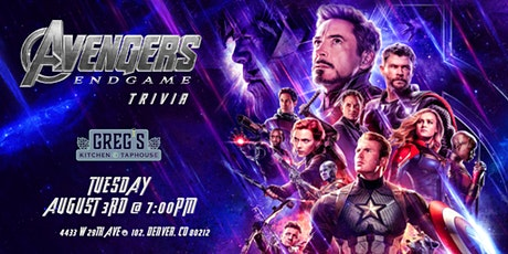 Avengers:Endgame Trivia at Greg's Kitchen and Taphouse tickets