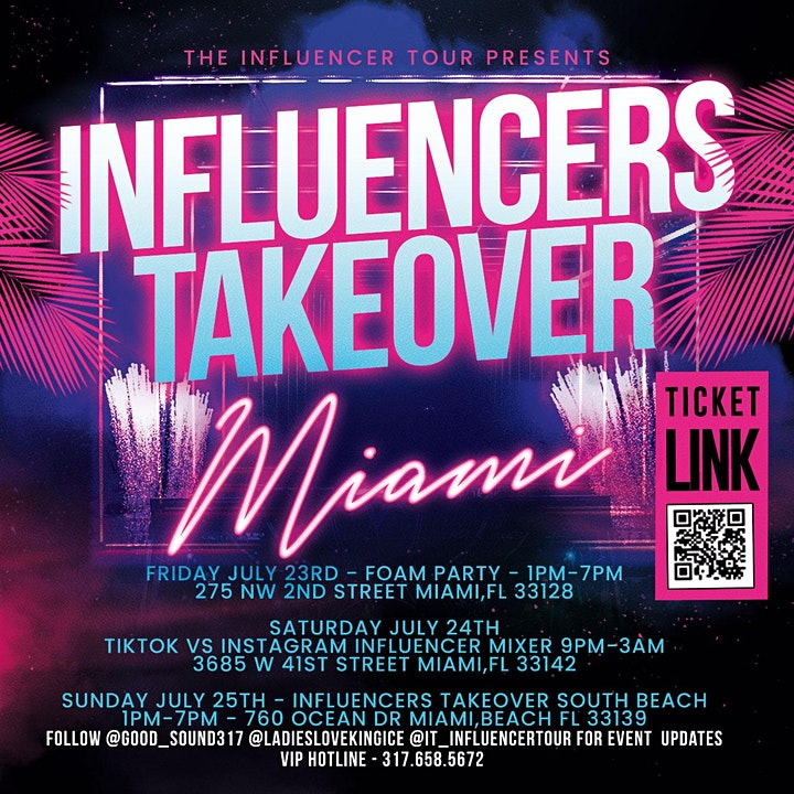 INFLUENCERS TAKEOVER MIAMI image