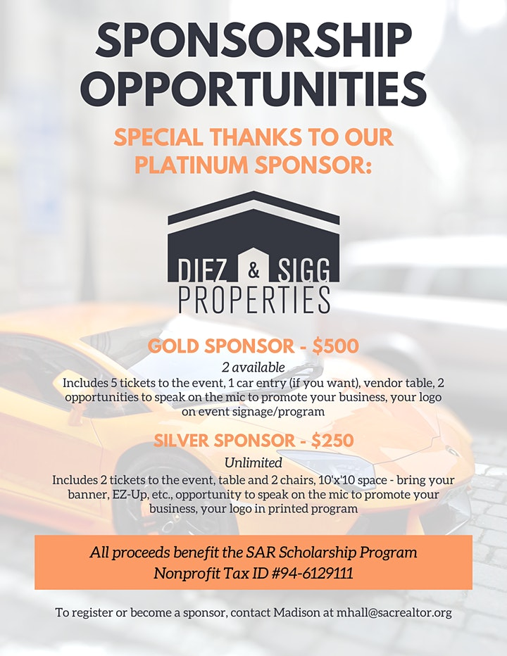 3rd Annual SAR Scholarship Car Show image
