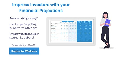 Impress Investors with your Financial Projections tickets