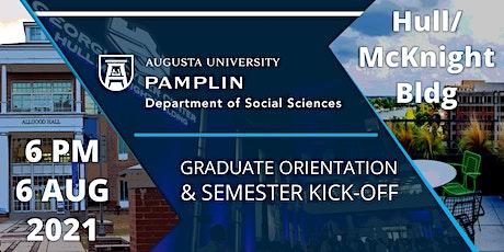 Social Sciences Graduate Orientation and Semester Kick-Off tickets