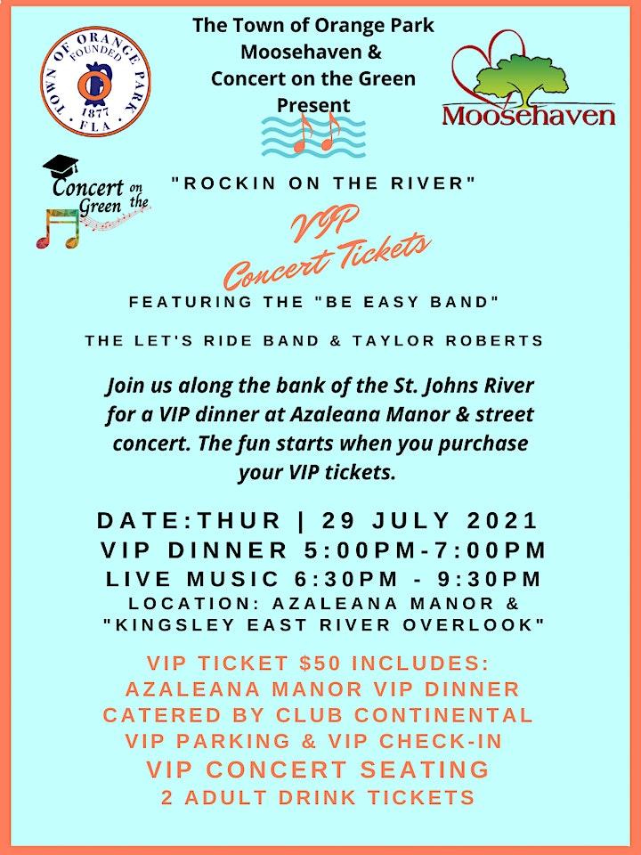 "NJ ""Rockin on the River"" VIP Dinner & Concert image"