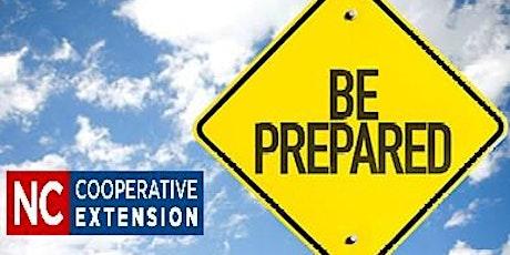 Be Prepared: Disaster Preparedness tickets