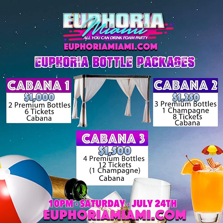 Euphoria Miami :  All You Can Drink Foam Party image